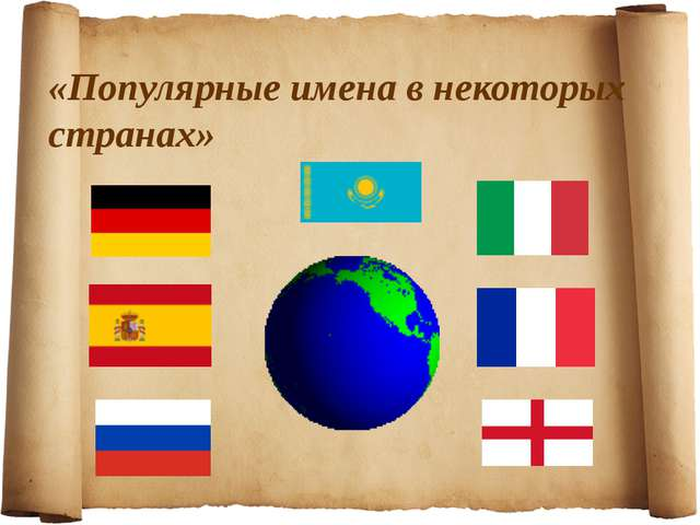 «Популярные имена в некоторых странах»