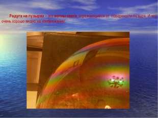 Радуга на пузырях – это волны света, отражающиеся от поверхности пузыря. И