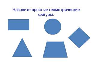 Назовите простые геометрические фигуры.