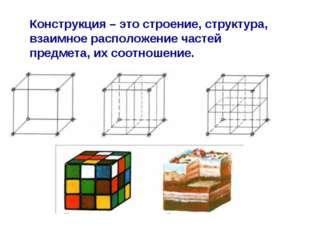Конструкция – это строение, структура, взаимное расположение частей предмета,