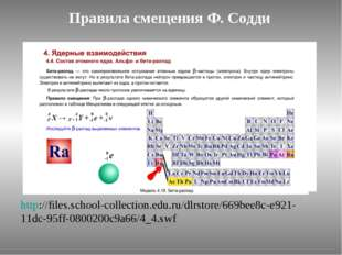Правила смещения Ф. Содди http://files.school-collection.edu.ru/dlrstore/669b