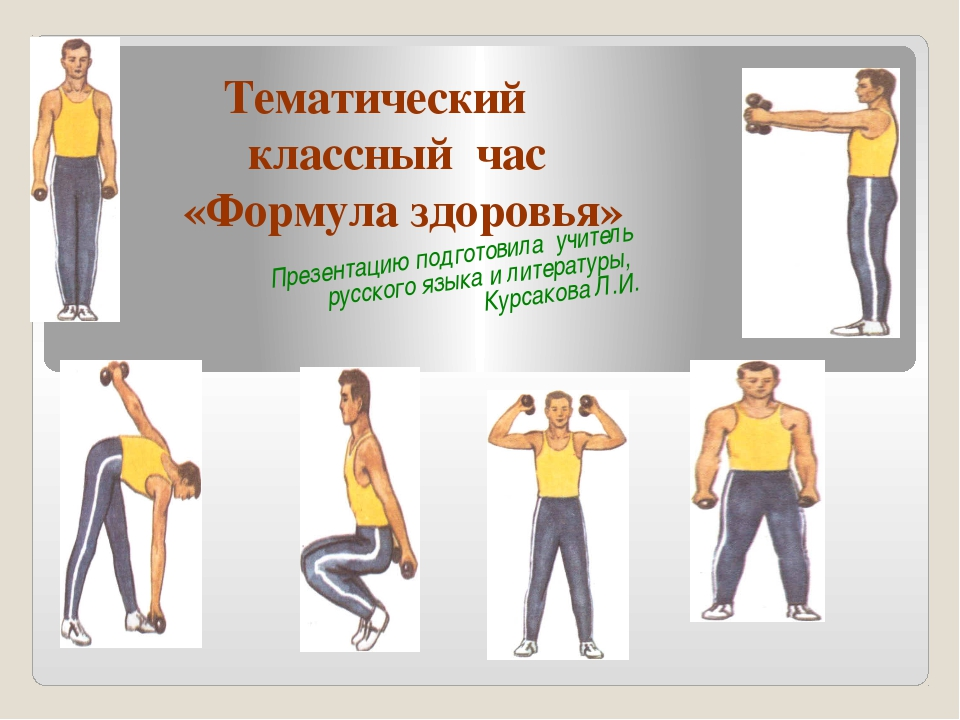 Тематический классный час «Формула здоровья» Презентацию подготовила учитель...