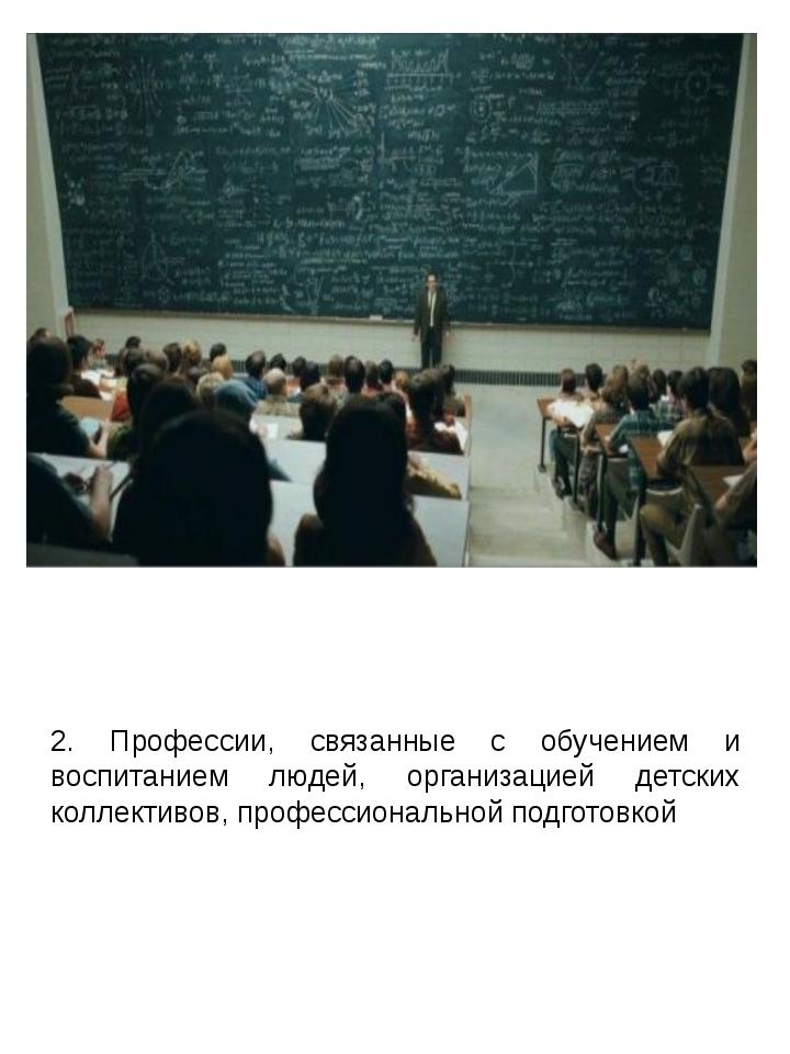 2. Профессии, связанные с обучением и воспитанием людей, организацией детских...