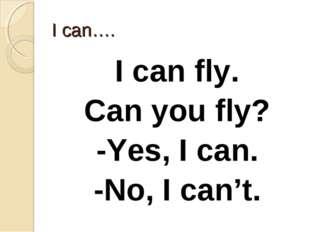 I can…. I can fly. Can you fly? -Yes, I can. -No, I can't.