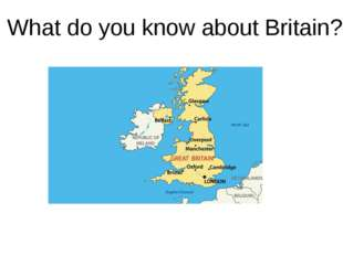 What do you know about Britain?