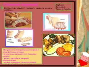 Свинина жареная Используют корейку, грудинку, окорок и мякоть лопатки. Обжари