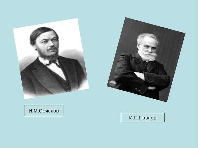 И.М.Сеченов И.П.Павлов