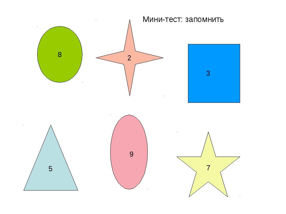 Мини-тест: запомнить 8 3 5 7 2 9