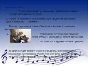 3. Процесс работы над музыкальным произведением Процесс работы над музыкаль