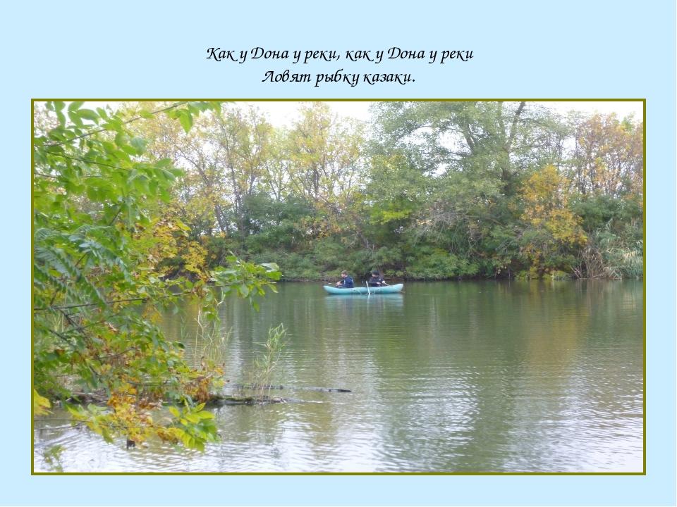 Как у Дона у реки, как у Дона у реки Ловят рыбку казаки.