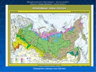 Определите границы зона Арктики. Образовательный портал «Мой университет» - w