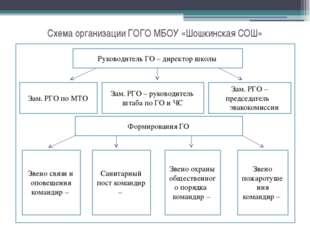 Схема организации ГОГО МБОУ «Шошкинская СОШ» Руководитель ГО – директор школы