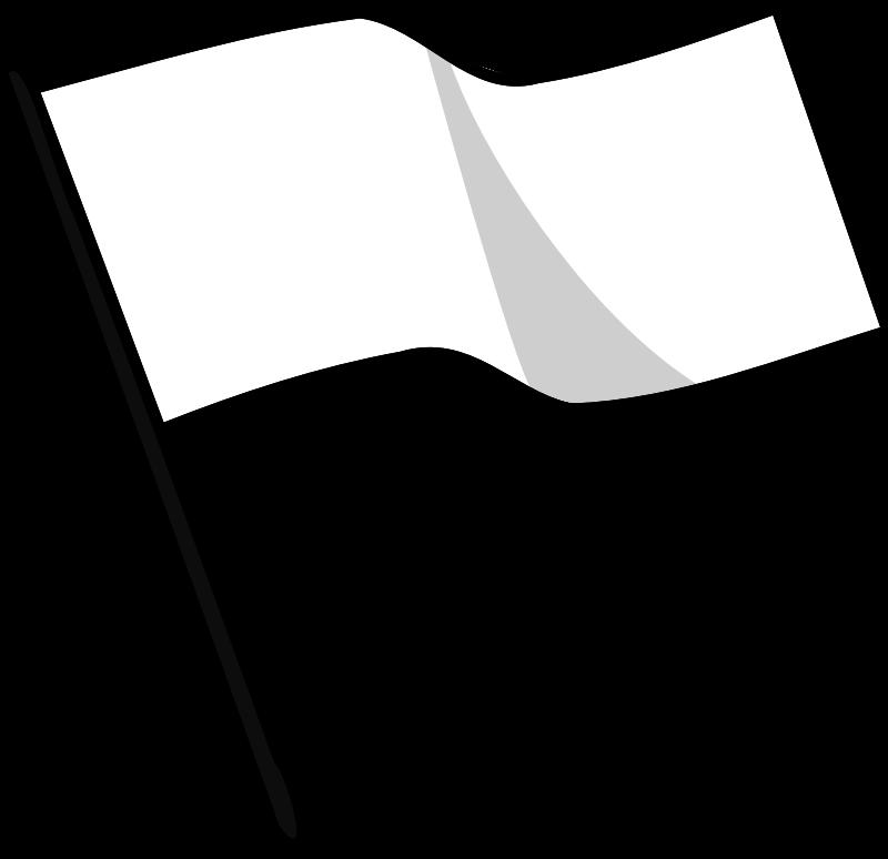 Clipart - Waving white flag
