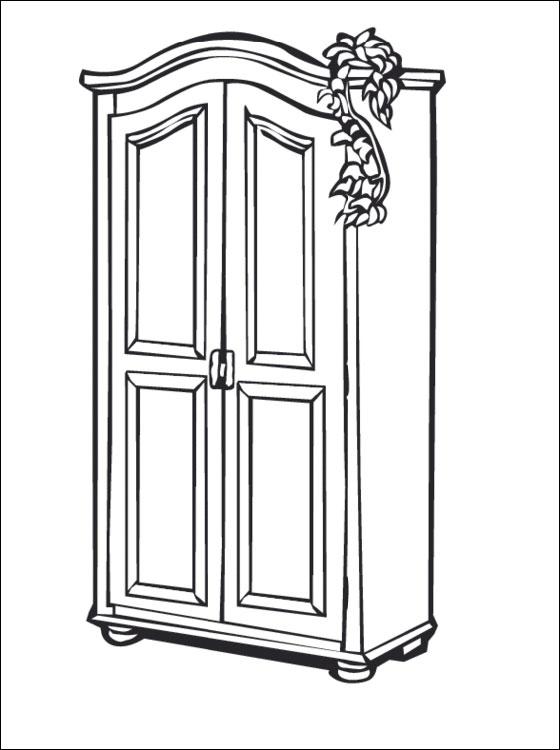 Раскраска шкафчик Раскраски онлайн бесплатно