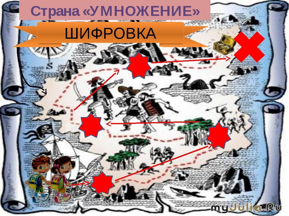 Страна «УМНОЖЕНИЕ» ШИФРОВКА