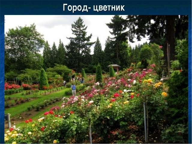 Город- цветник