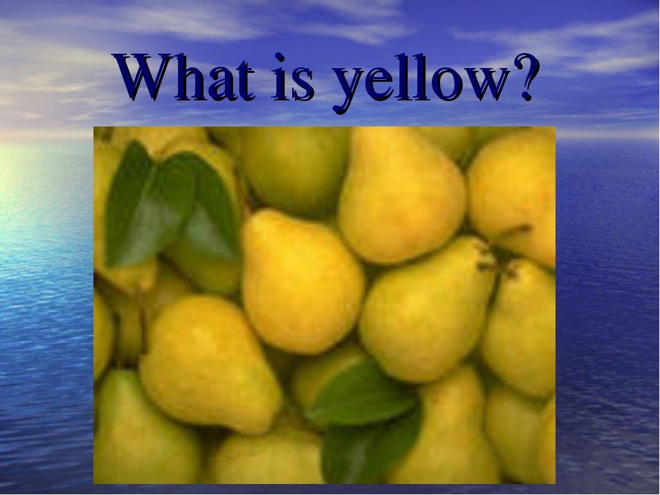 What is yellow?
