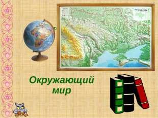 Заголовок слайда Окружающий мир