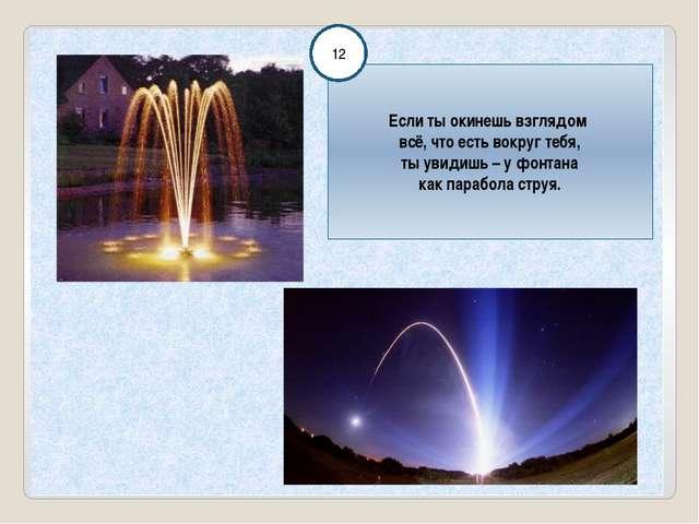 Если ты окинешь взглядом всё, что есть вокруг тебя, ты увидишь – у фонтана к...