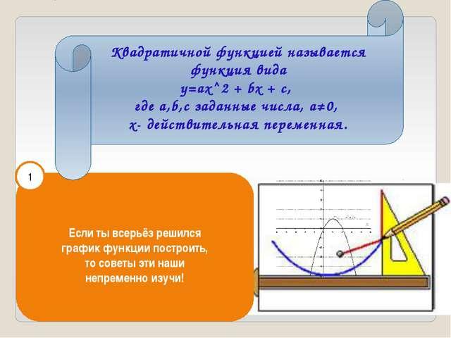 Если ты всерьёз решился график функции построить, то советы эти наши непреме...