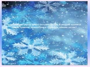 Пушистый снег укрыл землю белым одеялом. В воздухе кружатся лёгкие пушинки. М