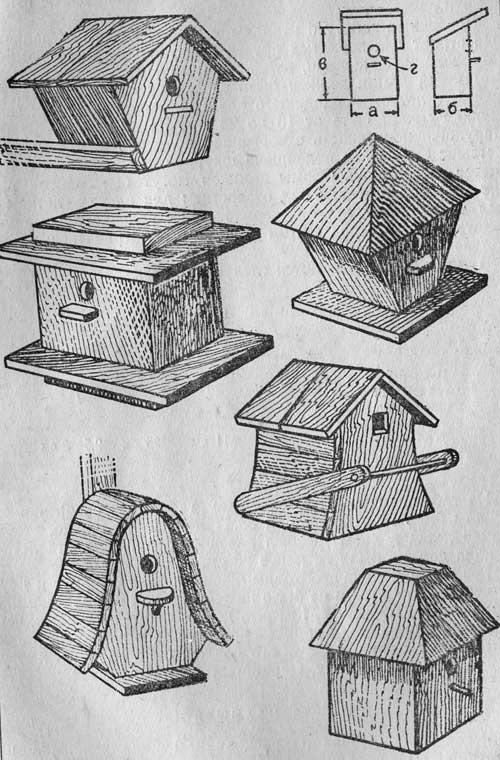 Как сделать домик для синиц своими руками из дерева
