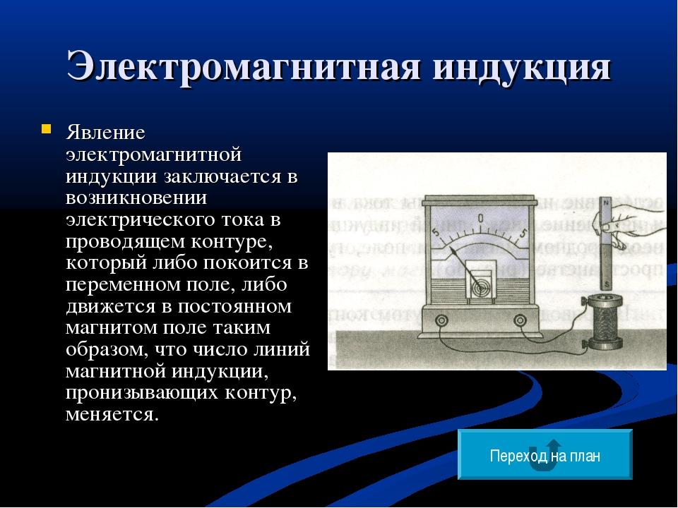 Электромагнитная индукция Явление электромагнитной индукции заключается в воз...