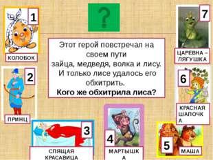 1 ОСЕЛ КУРИЦА 3 КОЗА 5 УТКА 6 КОШКА 4 ГУСЬ 7 КОРОВА Глазищи, усищи, хвостище,