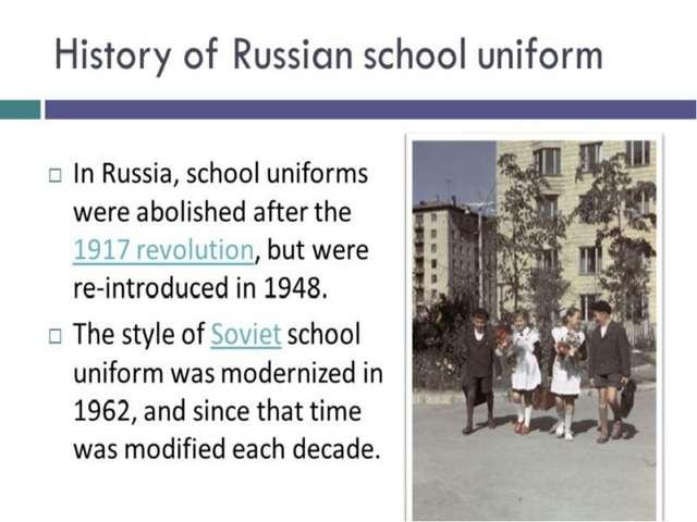 History of Russian school uniform History of Russian school uniform
