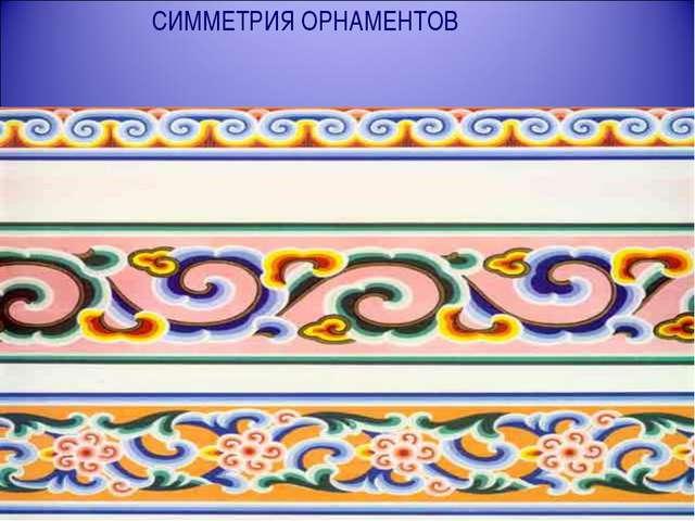 СИММЕТРИЯ ОРНАМЕНТОВ