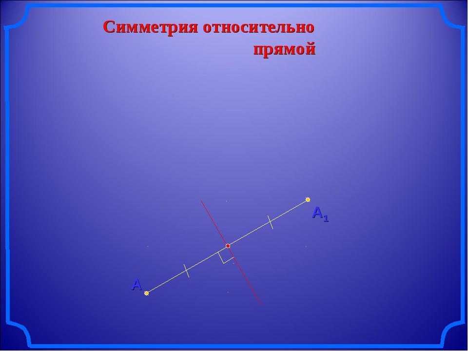 Симметрия относительно прямой А