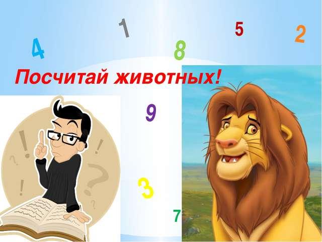 Посчитай животных! 3 8 4 9 1 2 7 5