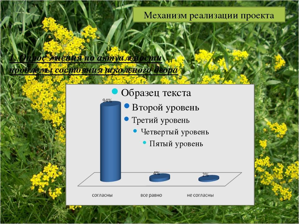 1. Опрос мнения по актуальности проблемы состояния школьного двора Механизм р...