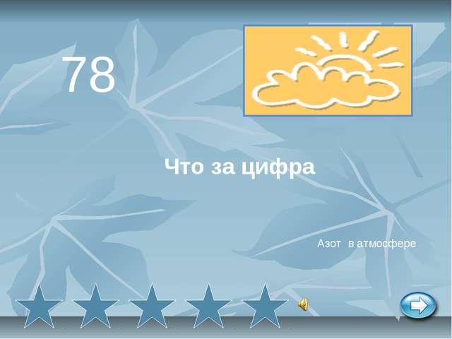 Что за цифра 78 Азот в атмосфере