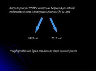 Законопроект ЛДПР о снижении возраста уголовной ответственности несовершеннол