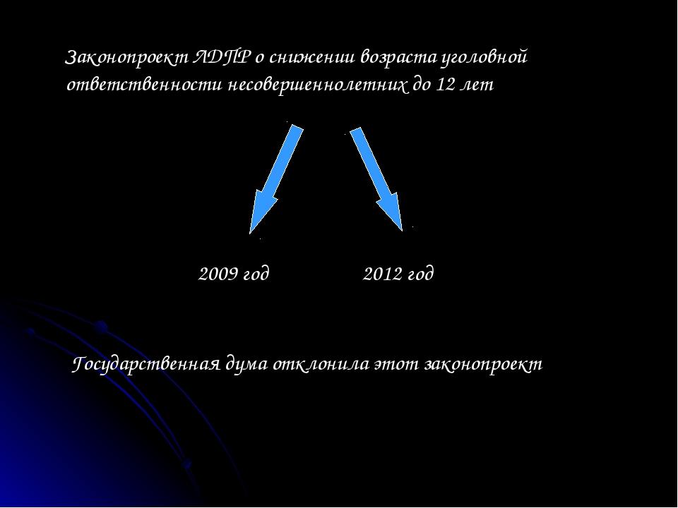 Законопроект ЛДПР о снижении возраста уголовной ответственности несовершеннол...