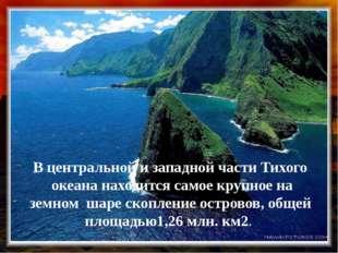 В центральной и западной части Тихого океана находится самое крупное на земно