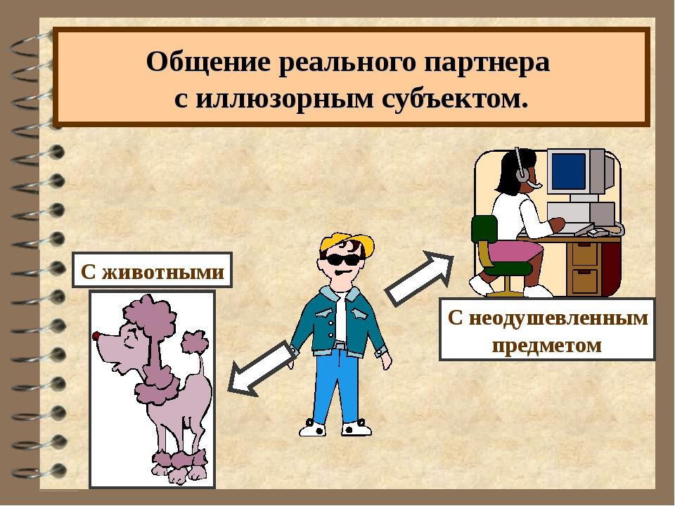 Общение реального партнера с иллюзорным субъектом.