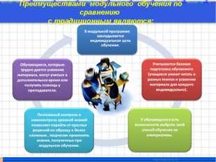 Преимуществами модульного обучения по сравнению с традиционным являются: