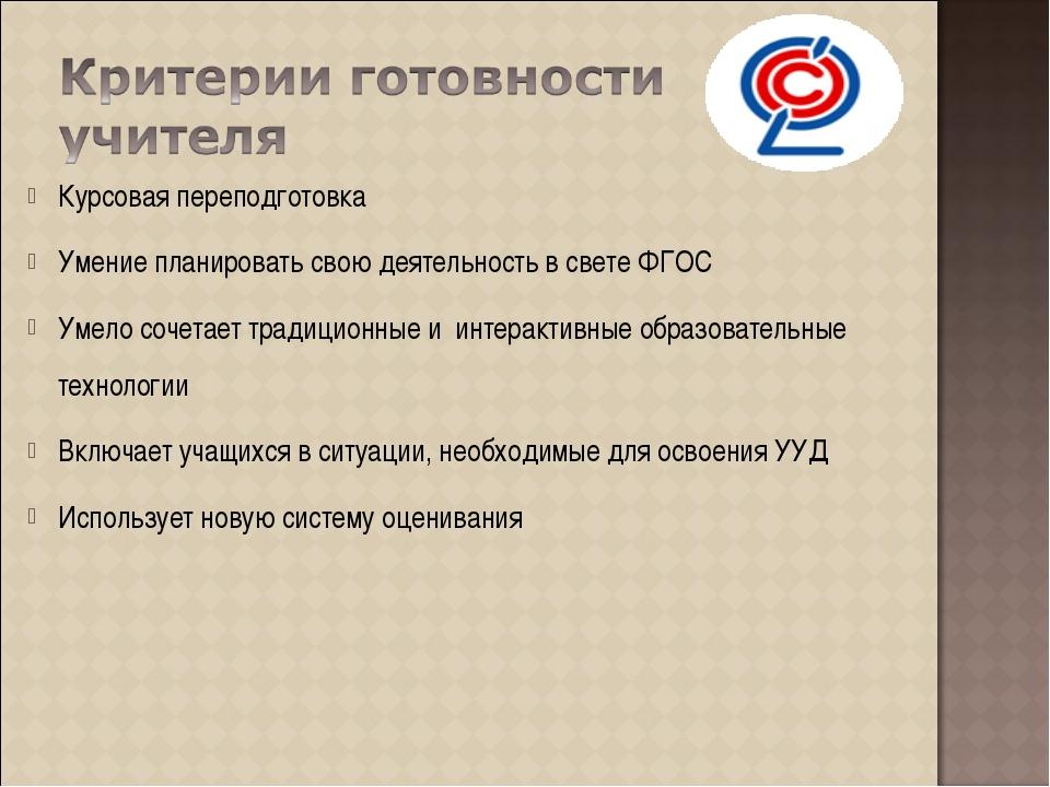 Курсовая переподготовка Умение планировать свою деятельность в свете ФГОС Уме...