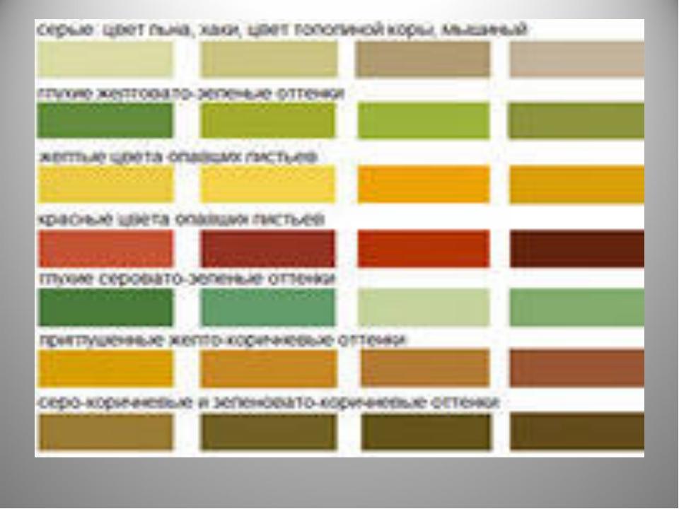Натуральные цвета в дизайне
