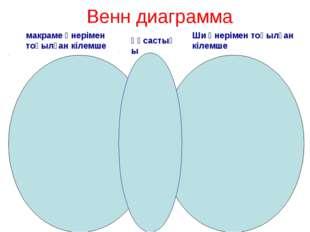 Венн диаграмма макраме өнерімен тоқылған кілемше Ши өнерімен тоқылған кілемше