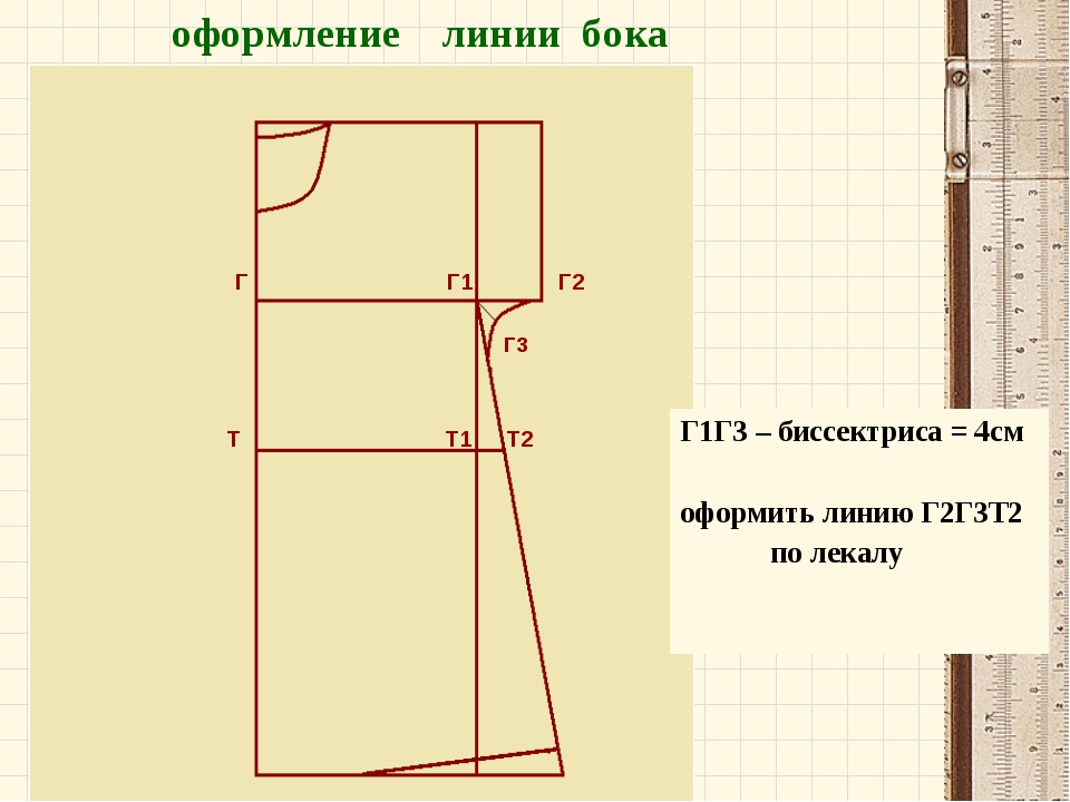 Г Г1 Г2 Г3 Т Т1 Т2 оформление линии бока Г1Г3 – биссектриса = 4см оформить л...