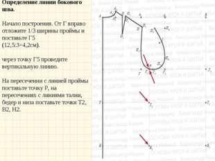Определение линии бокового шва. Начало построения. От Г вправо отложите 1/3
