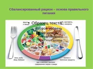 Сбалансированный рацион – основа правильного питания