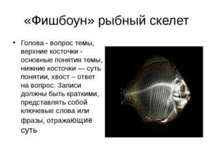 «Фишбоун» рыбный скелет Голова - вопрос темы, верхние косточки - основные пон