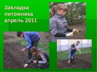 Закладка питомника апрель 2011