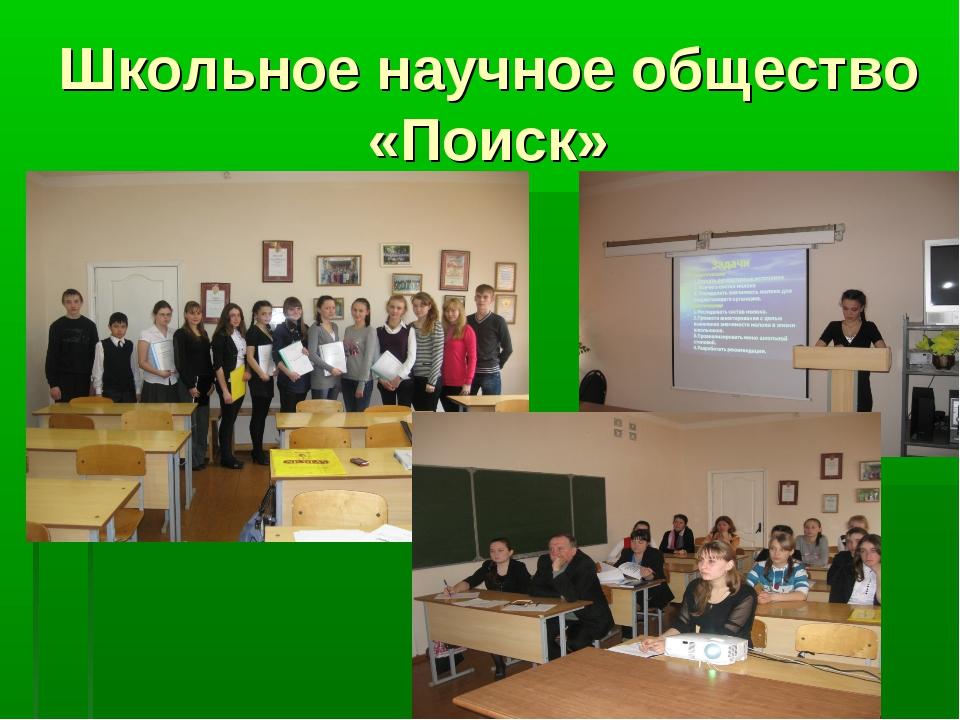 Школьное научное общество «Поиск»