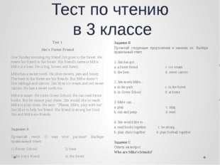 Тест по чтению в 3 классе Задание B Прочитай следующие предложения и закончи