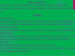Цель проекта: Формирование у детей осознанного выполнения правил поведения,